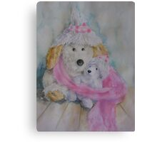 Winter soft toys  Canvas Print