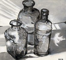 Torrit Bottles I by Amy-Elyse Neer