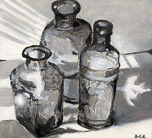 Torrit Bottles I by Amy-Elyse Neer