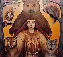 South - Spiritual visionary oil painting by LindaAppleArt