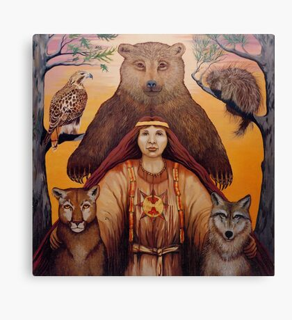 South - Spiritual visionary oil painting Canvas Print