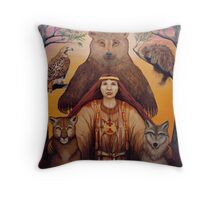 South - Spiritual visionary oil painting Throw Pillow