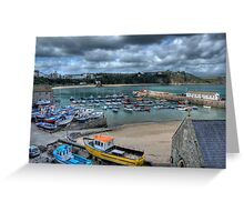 Tenby Harbour Pembrokeshire 11 Greeting Card