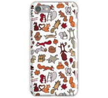 Squirrels in Fall Doodle iPhone Case/Skin