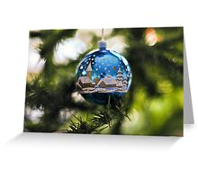 Winter Village Bauble Greeting Card