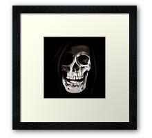 Reaper Skull Framed Print