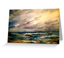 Winter and Rough Weather Greeting Card
