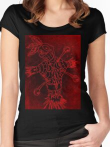 Voodoo Skull Doll Women's Fitted Scoop T-Shirt