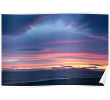 A Beautiful Allonby Sunset Poster