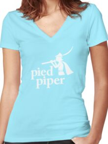 Pied Piper Women's Fitted V-Neck T-Shirt