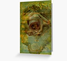 One Grungy Rose Greeting Card