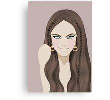 Gucci Horsebit Earrings Illustration Canvas Print