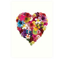 Flowered Heart Art Print