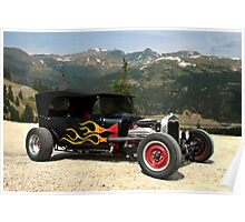 1926 Ford Model T Hot Rod Touring Car Poster