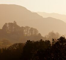 View East Over The Lakeland Fells, Near Grange, Cumbria by Jan Fialkowski