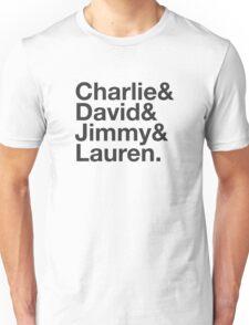 Charlie David Jimmy Lauren Unisex T-Shirt