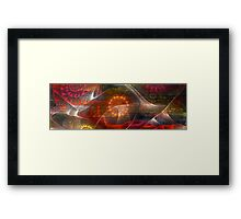In the midst of these lines my heart lies buried Framed Print