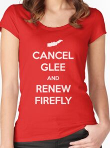 Cancel Glee and Renew Firefly Women's Fitted Scoop T-Shirt