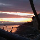 Alki Beach Sunset  by kylemeling