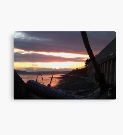 Alki Beach Sunset  Canvas Print