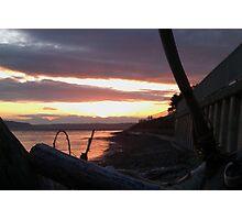 Alki Beach Sunset  Photographic Print