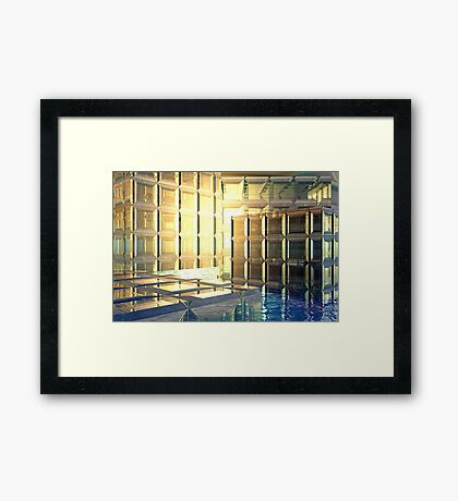 Vexing // Nothing more than a few glass cubes Framed Print