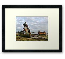 Fleetwood Wrecks. Framed Print