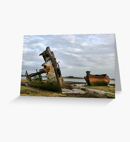 Fleetwood Wrecks. Greeting Card