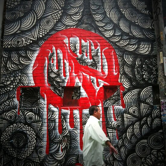 Peace Graffiti, May Lane, St Peters, Sydney by jphenfrey