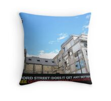 Oxford Street: DOES it get any better? Throw Pillow