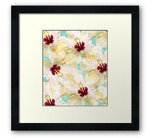 Hibiscus on Steroids #redbubble Framed Print