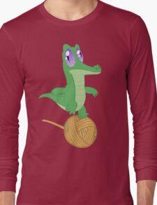 Fluttershy's Pet Alligator, Gummy! Long Sleeve T-Shirt