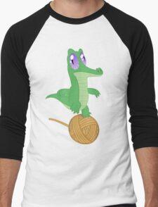 Fluttershy's Pet Alligator, Gummy! Men's Baseball ¾ T-Shirt