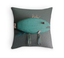 Keychain Fish 6 of 14 (SOLD) Throw Pillow