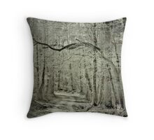 Twisted Trees Grunged Throw Pillow