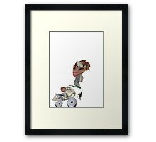 Junk Puppets Mother and Pram  Framed Print