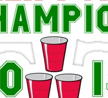 CHRISTMAS BEER PONG CHAMPION Sticker