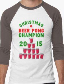 CHRISTMAS BEER PONG CHAMPION Men's Baseball ¾ T-Shirt