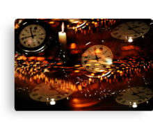 Clocks And Candelight  Canvas Print