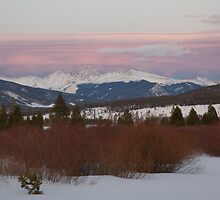 March - Sunset over the Continental Divide. by bberwyn