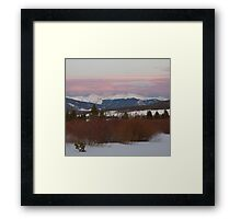 March - Sunset over the Continental Divide. Framed Print