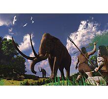 Mammoth Hunters Photographic Print