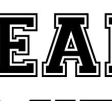 Team MIT - Blackjack 21 (black) Sticker