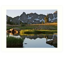 August - Gore Range lake Art Print