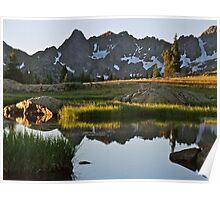 August - Gore Range lake Poster