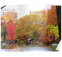 Hazy Autumn day in Central Park, New York City Poster