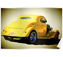 1934 Ford Coupe Hotrod Poster
