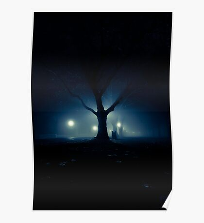 Misty Blues Poster