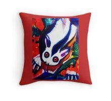 possum on red Throw Pillow
