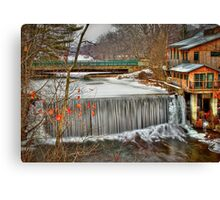 Icy Conditions Canvas Print